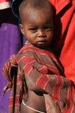 behandla som ett barn masaien Royaltyfri Fotografi
