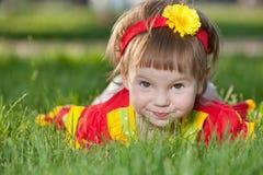 behandla som ett barn maskrosen Arkivbild