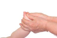 behandla som ett barn massagen Royaltyfri Foto