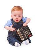 behandla som ett barn mathematicianen Arkivfoton