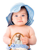 Behandla som ett barn med kanin Royaltyfri Fotografi