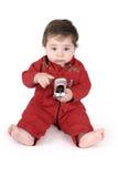 behandla som ett barn mobilt telefonsamtal royaltyfria foton