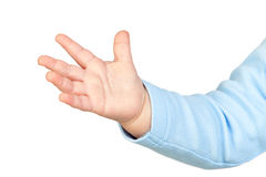 behandla som ett barn mycket liten hand s royaltyfri foto