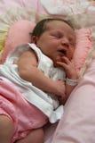 behandla som ett barn nyfött sova Royaltyfri Foto