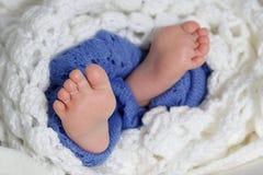 behandla som ett barn nyf?tt ?vre f?r t?t fot Behandla som ett barn cozy familj royaltyfri bild