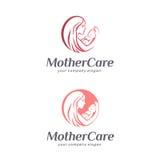 Behandla som ett barn omsorg, moderskap och barnafödande Modertecken royaltyfri illustrationer