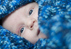 behandla som ett barn ögon Royaltyfri Foto