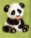 behandla som ett barn pandaen vektor illustrationer
