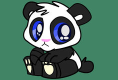 Behandla som ett barn pandaen Royaltyfri Foto