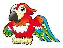 behandla som ett barn papegojan stock illustrationer