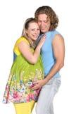 behandla som ett barn par som förväntar mode Royaltyfria Bilder