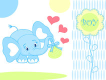 behandla som ett barn pojkeelefanten Arkivbilder