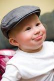 behandla som ett barn pojkehatten Royaltyfri Fotografi