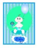 behandla som ett barn pojkekortet royaltyfri illustrationer