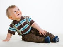 Behandla som ett barn pojken Arkivfoto