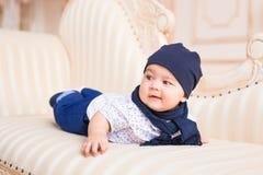 Behandla som ett barn pojken, 3 gamla månader Royaltyfria Foton