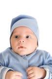 Behandla som ett barn pojken på bluen Royaltyfria Bilder