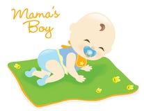Behandla som ett barn pojken på filten Royaltyfri Fotografi