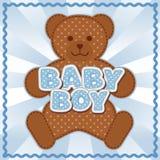 Behandla som ett barn pojken Teddy Bear Arkivfoto