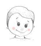 Behandla som ett barn pojkeståenden Arkivfoton