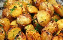 behandla som ett barn potatisar yukon Arkivbild