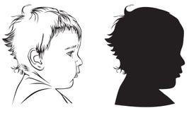 behandla som ett barn profil stock illustrationer