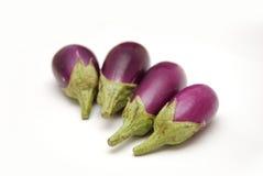 behandla som ett barn purpura aubergine Arkivfoto