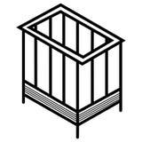 Behandla som ett barn sängsymbolen royaltyfri illustrationer