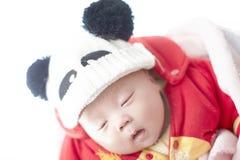 Behandla som ett barn sömn Arkivbild