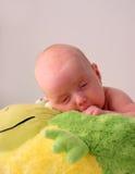 behandla som ett barn sömnigt Royaltyfri Fotografi