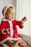 Behandla som ett barn santa Arkivfoton