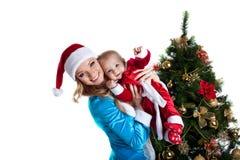 behandla som ett barn santa för ståenden för claus glädje jungfru- snow Arkivfoto