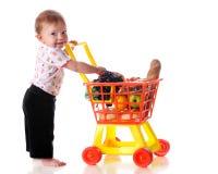 behandla som ett barn shopparen Royaltyfri Fotografi
