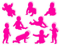 behandla som ett barn silhouettes Royaltyfri Foto