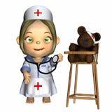 behandla som ett barn sjuksköterskan Arkivbilder