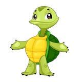 Behandla som ett barn sköldpaddan Arkivbild