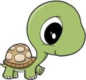 behandla som ett barn sköldpaddavektorn Arkivbild