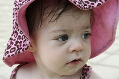 behandla som ett barn skönhetpinken Arkivfoto