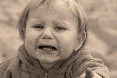 behandla som ett barn skrik royaltyfri fotografi