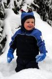 behandla som ett barn snow Arkivbild
