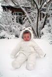behandla som ett barn snow Arkivfoto