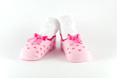 Behandla som ett barn sockor Royaltyfri Foto