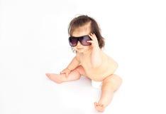 behandla som ett barn solglasögon Arkivbilder