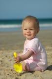 behandla som ett barn solskenet Arkivbild
