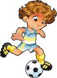 behandla som ett barn spelarefotboll Arkivfoton