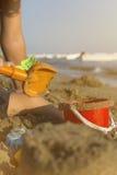 behandla som ett barn stranden Fotografering för Bildbyråer