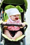 behandla som ett barn strolleren Royaltyfria Foton