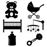 Behandla som ett barn symboler Royaltyfri Bild