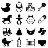 Behandla som ett barn symbolsseten royaltyfri illustrationer