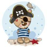 Behandla som ett barn tecknade filmen Teddy Bear i sjömandräkt royaltyfri illustrationer